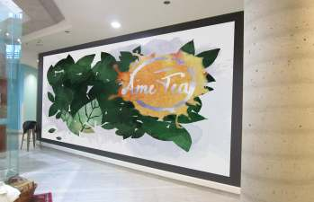Ame Tea Wall Mural design