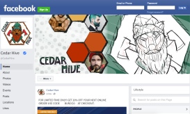 The Facebook banner design