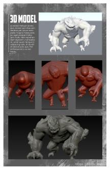 Creature 3D model process