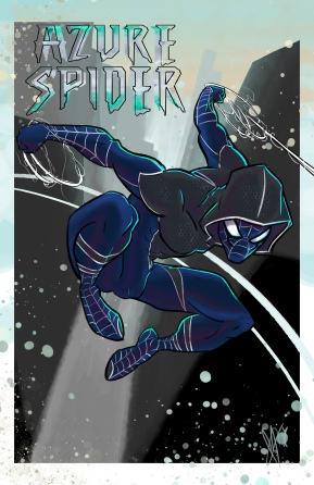 Azure Spider Concept: cover design