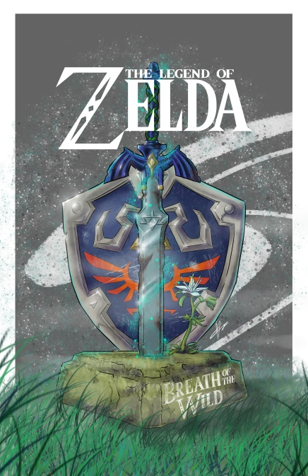 Zelda shield sword fin